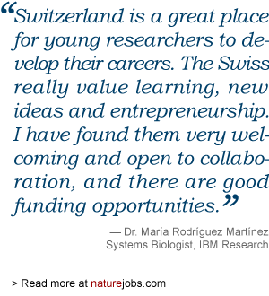 Maria Rodrigues Martinez on working in Switzerland