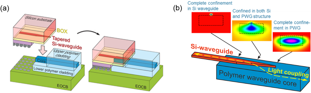 System-level integration schemes of Si-photonics chip co-packaged on a processor package.