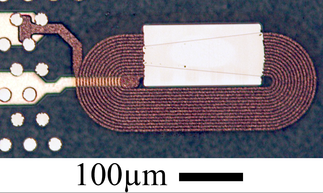 Optical micrograph of prototype planar servo writer