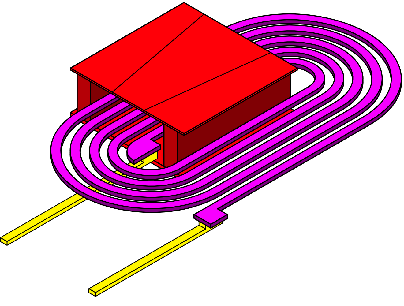 3D schematic view of planar servo writer